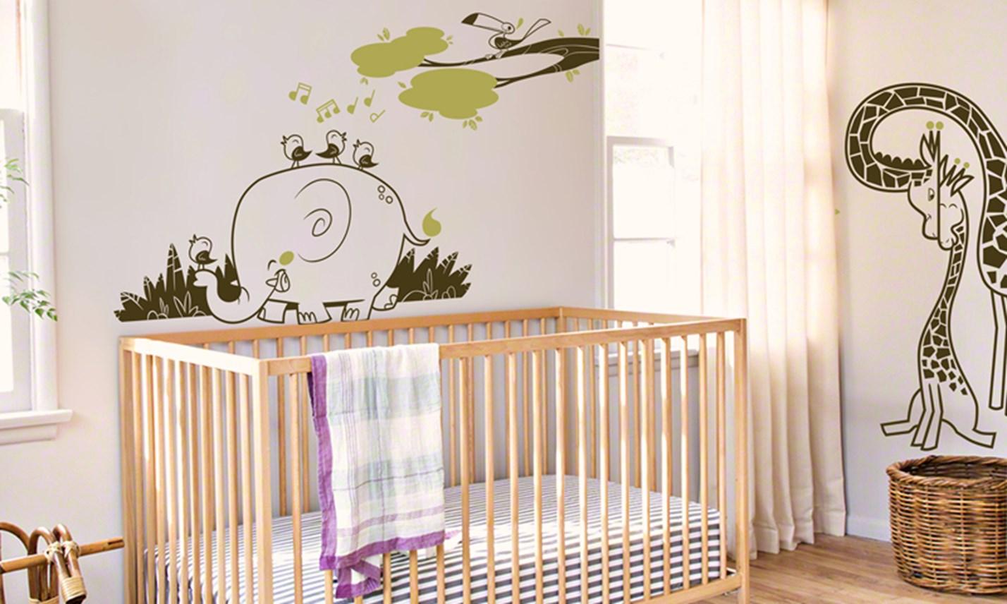 Stickers murali bambini cameretta avventura nella savana - Decorazioni murali camerette ...